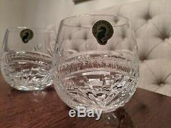 Waterford Crystal Seahorse Nouveau set 4 DOF Double Old Fashioned Glasses