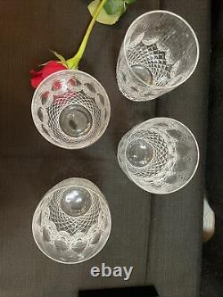 Waterford Crystal Set Of 2 Colleen Double Old Fashioned Tumblers Glasses 4 3/8