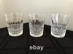 Waterford Crystal Set Of 3 Colleen Double Old Fashioned Tumblers Glasses 4 3/8