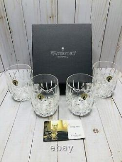 Waterford Crystal Set Of 4 Westhampton 4-1/8 Double Old Fashioned Whiskey Glass