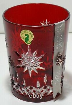 Waterford Crystal Snowflake Wishes Joy Double Old Fashioned Prestige Edition