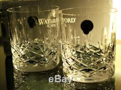 Waterford Crystal Sunset Whiskey Tumbler Pair Double Old Fashioned New in Box
