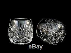Waterford Crystal Waterville DOF Double Old Fashioned Glasses Tumblers Mint