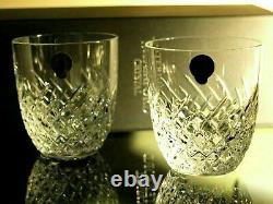 Waterford Crystal Wave Tumbler Pair Double Old Fashioned Brand New in Box