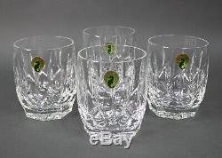 Waterford Crystal Westhampton Double Old Fashioned Glasses Tumblers Set of 4