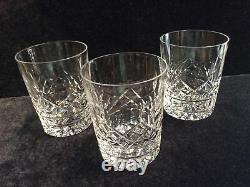 Waterford Cut Crystal Lismore Double Old Fashioned Glasses / Three