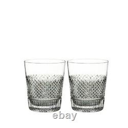 Waterford Diamond Line Double Old Fashioned Set of 2