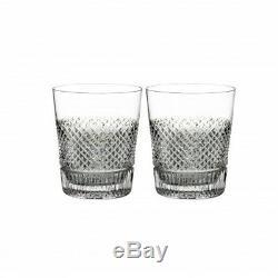 Waterford Diamond Line Double Old Fashioned Set of 4