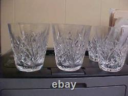 Waterford Drogheda Flared 4 Double Old Fashioned Tumblers (Set Of 6)