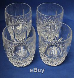 Waterford Glenmede Set of 4 Double Old Fashioned Near Mint in Original Box