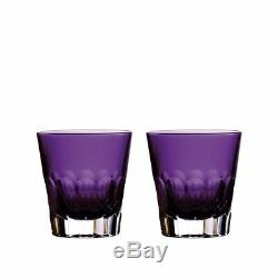 Waterford Icon Amethyst Double Old Fashioned Set of 2