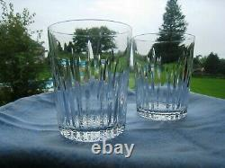 Waterford Irish Crystal. Two 4 3/8 Double Old Fashioned Whiskey Glasses. Eileen