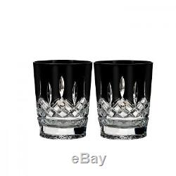 Waterford Lismore Black Double Old Fashioned Set/2 NEW