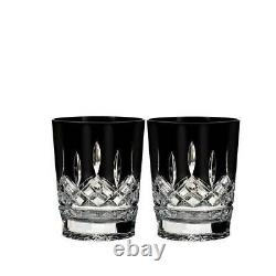 Waterford Lismore Black Double Old Fashioned Set of 2