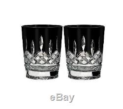 Waterford Lismore Black Set of 2 Double Old Fashioned Glasses