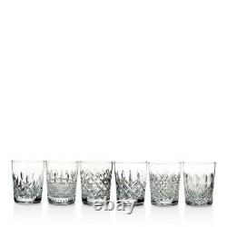 Waterford Lismore Connoisseur Heritage 13.5oz Double Old Fashioned, Set of 6 NIB