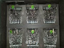 Waterford Lismore Double Old Fashioned Glasses Deluxe Gift Box Set of 6 DOF G