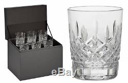 Waterford Lismore Double Old Fashioned Glasses, Deluxe Gift Box Set of 6 DOF Gla