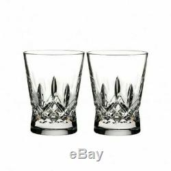 Waterford Lismore Pair Pops Double Old Fashioned Tumblers Clear Glasses NIB
