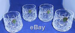 Waterford Lismore Roly Poly Double Old Fashioned Glasses Set of 4 New