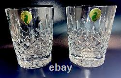 Waterford Lismore Set Of 2 Double Old Fashioned 12 Oz Glasses NIB