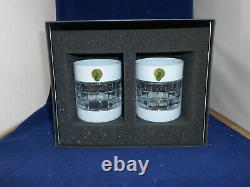Waterford London White Double Old Fashioned Glasses Set of 2 New in Box