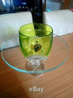 Waterford MIXOLOGY Neon Lime Green Tumbler SET/2 Double Old Fashioned 160460 New