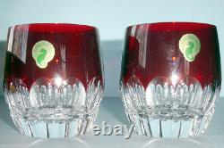 Waterford Mixology Double Old Fashioned Talon Red Set of 2 Tumblers 160459 New