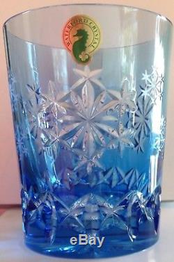 Waterford NIB 2013 Kerry Blue Snowfake Wishes Double Old Fashioned Glass(10)sale