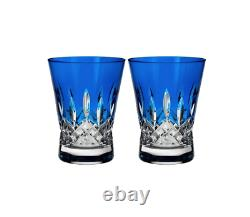 Waterford Set Of Two Lismore Pops Double Old Fashioned Glasses 6106