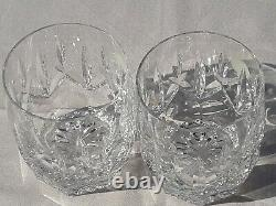 Waterford Westhampton Set of 2 Double Old Fashioned Glasses NWT Mint Condition