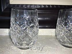 Waterford crystal double old fashioned glasses POWERSCOURT