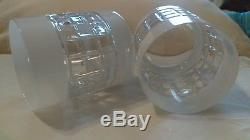 Waterford set of 2 NIB London White Double old fashioned crystal glasses