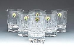 Waterford set of 6 Double old Fashioned in the Lismore Diamond Collection NEW