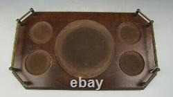 Wedgwood Ships Decanter, 4 Double Old Fashioned Tumblers & Wooden Tray