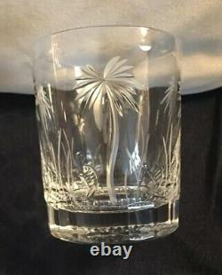 William Yeoward Crystal Alexis Double Old Fashioned Glasses, Palm Tree X2