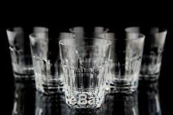 William Yeoward Crystal Inez Double Old Fashioned Glasses Set 6 Vintage Barware