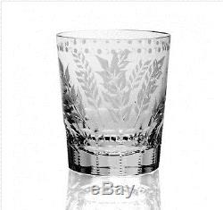 William Yeoward Fern Cut Crystal Double Old Fashioned Tumbler Rare Used