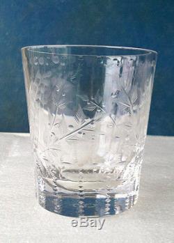 William Yeoward Fern Cut Crystal Double Old Fashioned Tumbler Rare Used