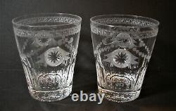 William Yeoward Two Crystal Pearl Double Old Fashioned Tumblers