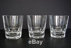 ZURICH by BACCARAT FRENCH Cut Glass Crystal Set of 3 Double Old Fashioned 3 3/4